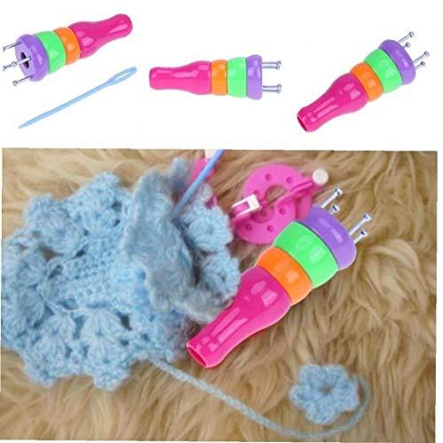 Onsinic ABS hilado de lana de plástico tejedora de tejer muñeca Dolly Craft Loom cuerda trenzada Maker Accesorios Herramientas que hacen punto de costura
