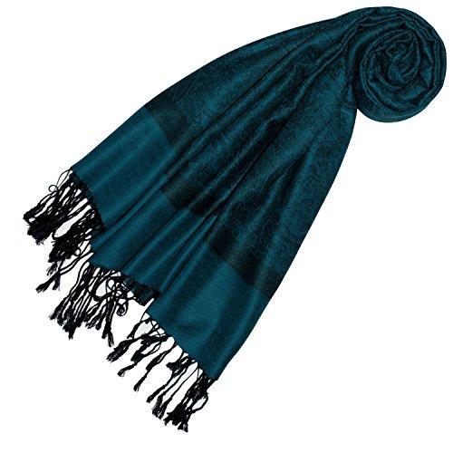 Lorenzo Cana Designer Damen Pashmina hochwertiger Marken-Schal jacquard gewebtes Paisley Muster 70 x 180 cm Modal harmonische Farben Schaltuch Schal Tuch 93314