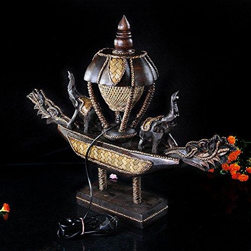 Gusseisen Decke Beleuchtung (WSND Holzschnitzerei Handmade Teak kreative Hand gemacht Tischleuchte Lampe Schlafzimmer Beleuchtung Büro)
