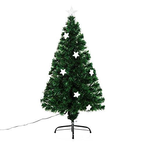 Árbol de Navidad PVC Arbol de Fibra Óptica con Luces LED 120...