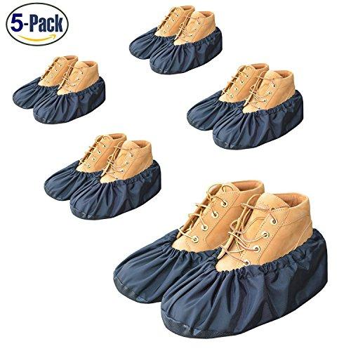 YOUTU AntiSlip Anti-Rutsch Schuhüberzieher,überschuhe überzieher Schuhüberzieher Shoe Cover Hülle,wiederverwendbar überschuhe Staubfrei,Für die meisten erwachsenen, unisex - schwarz (5 Paare)