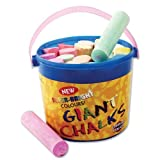 Tub of 20 Giant Chalks - Assorted Colours