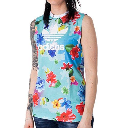adidas Mädchen J FLWR L Tank Trägerhemd, Multifarbe/Multco/Blanco, 170 (Adidas Kinder Blume)