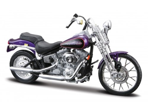 Harley-Davidson Fxsts Springer Softail schaal 1:18 (paars)