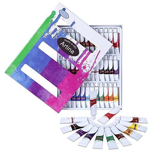 Artina Colaro Aquarellfarben Set 36x12ml Aquarell Farben Künstlerfarben, Farb-Set für...