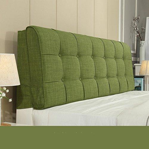 Dossier De Chevet Design ergonomique Coussin de chevet Tissu Linge de lit sans soucoupe Grand dossier Ensemble d'oreiller Housse de lit Big Pillow Pure Color 58 * 185cm (Couleur : F)