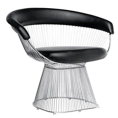 Fine Mod Imports Libo Chair (Set of 2), Black