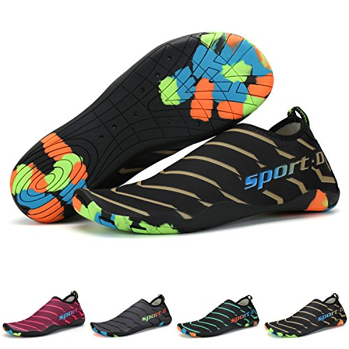 TUCSSON Chaussures D'eau Homme Femme Chaussures de Plage Chaussures de Aqua Eté Surf Nager Yoga Snorkeling Dive Chaussures Aqua Chaussure Aquatique Chaussures de Bain Chaussettes de Sport
