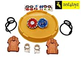 #10: Zest 4 Toyz 2 in 1 Beyblades Metal Fighter Fury with Metal Fight Ring 2 Launchers, and Stadium
