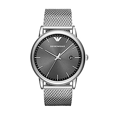 Emporio Armani Mens Analogue Quartz Watch with Stainless Steel Strap AR11069