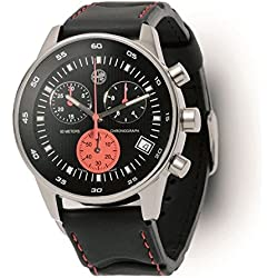 Original AlfaRomeo 5916368 Herren-Armbanduhr mit Chronograph, wasserdicht
