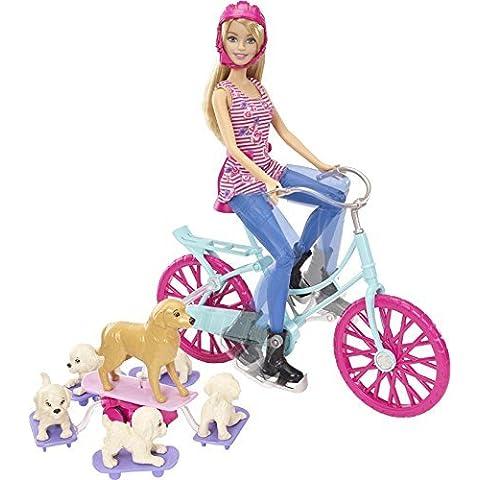 Barbie - Bici de Barbie y sus perritos (Mattel CLD94)