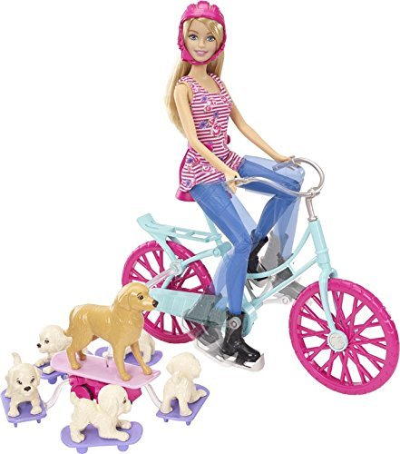 Barbie - Bici de Barbie y sus perritos...