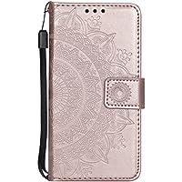iPhone 7 / iPhone 8 Hülle Leder, NEXCURIO Handyhülle Tasche Leder Flip Case Brieftasche Etui mit Kartenfach Stoßfest Kratzfest Schutzhülle für Apple iPhone7 / iPhone8 (4,7 Zoll) - NEHHA11302 Rosa Gold