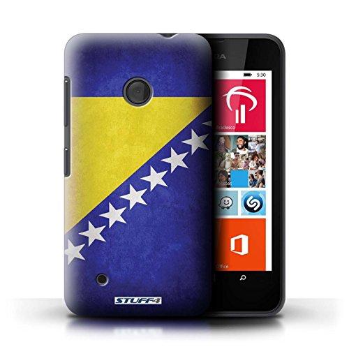 Kobalt® Imprimé Etui / Coque pour Nokia Lumia 530 / Suède/suèdois conception / Série Drapeau Bosnie-Herzégovine