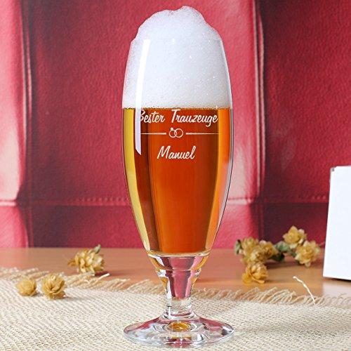 Privatglas Bierglas mit Gratis Gravur – Bester Trauzeuge – mit Namen zur Hochzeit - 2