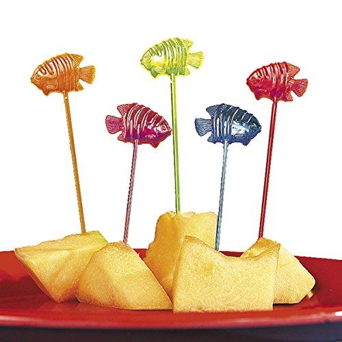 cama24com Partypicks mit bunten Fischen Hawaii Party Hula Partyspieße 72 Stück Tischdekoration Palandi®