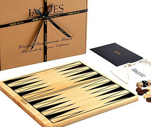 Backgammon Brett - Backgammon Reise - Backgammon Holz -Set mit Spielsteinen - Jaques von London - seit 1795