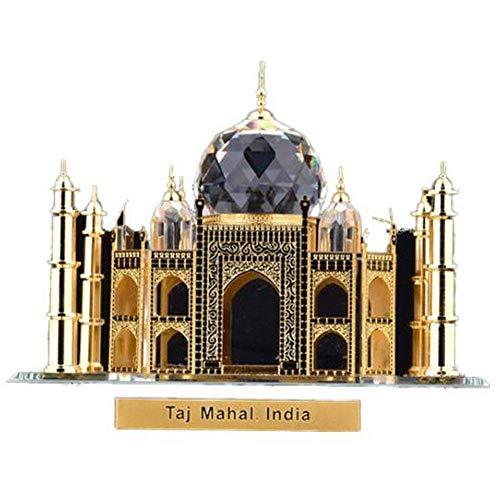 DDCYY Indisches Taj Mahal-Architekturmodell, Kristall-Architekturmodell, Dekorative Skulptur, Desktopsammlung, FüR Wohnzimmer, BüRo, Touristische Souvenirs (9x9x7,1 cm) (Indische Familie Kostüm)