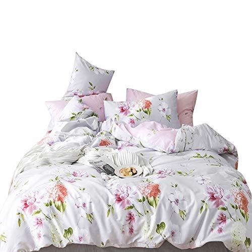 VClife 3Stück Baumwolle Tröster Bezug (1Bettbezug + 2Kissenbezüge:) Luxuriöse Weiche Bettbezug Sets für Kinder Erwachsene, baumwolle, Stil 1, King Size -
