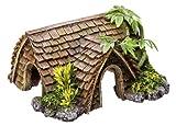 """Nobby 28276 Aquarium Dekoration Aqua Ornaments """"Häuschen"""" mit Pflanzen L-15"""