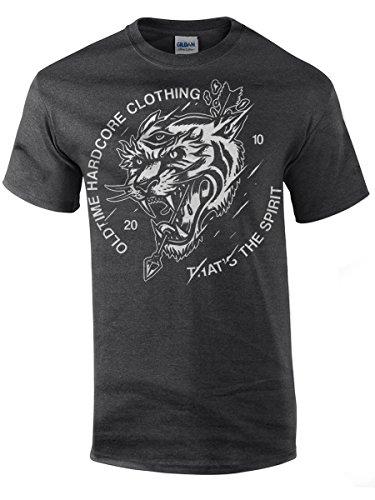 Oldtime Hardcore Clothing -  T-shirt - Basic - Collo a U  - Uomo Darkheather M