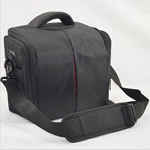 zeiyi Tasche digitale Spiegelreflexkamera Wasserdicht zu Wasser Staubsaugerbeutel von Kamera der Mode Schulter Messenger Sporttasche Größe: 27cm * 14cm * 23cm schwarz schwarz