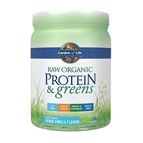 Garden of Life Raw Protein & Greens I Pflanzenprotein I BCAA I Lebende Bakterien & Enzyme I Sprossen I Bio I Vegan (French Vanilla) -