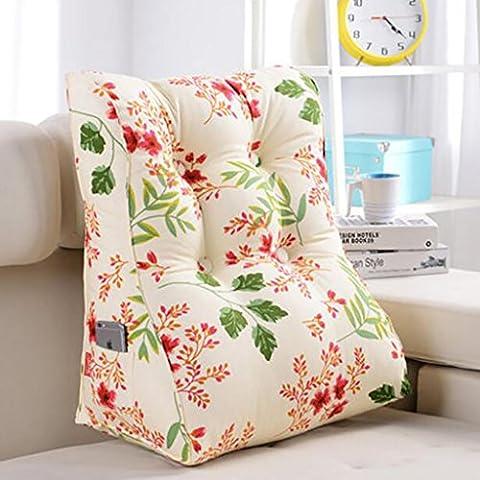 XWG Almohada de respaldo / Triángulo del amortiguador / cama / amortiguador de la cintura tridimensional / cintura Cabeza Almohada Almohada Almohada Oficina / cojines del sofá / desmontable lavable Cojines ( Color : # 4 , Tamaño : 55*60cm )