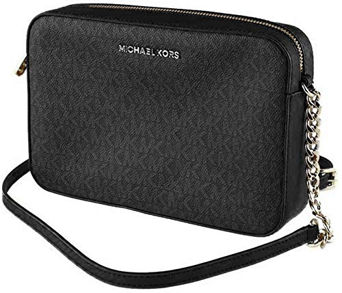 Michael Kors Jet Set Grand modèle East West, Noir (Black Pvc 2018), Taille unique