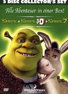 Shrek - Der tollkühne Held + Shrek 3D + Shrek 2 (Collector's Set) [5 DVDs]