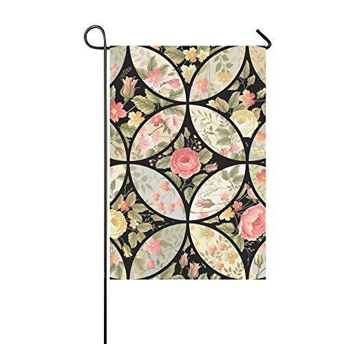 Enhusk Home Dekorative Outdoor Doppelseitiges Patchwork Floral Garten Flagge, Haus Yard Flagge, Garten Yard Dekorationen, saisonale Willkommen Outdoor Flagge 12 X 18 Zoll Frühling Sommer Geschenk -