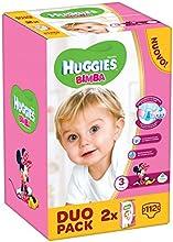 Huggies - Bimba - Pañales - Talla 3 (4 - 9 kg) - 2 x 56 pañales