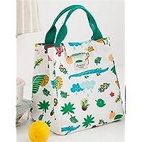 Preisvergleich für Yudanwin Leinwand-Lunch-Tasche Tragbare koreanische frische Isolierung wasserdicht Lunch Bag (weiß)