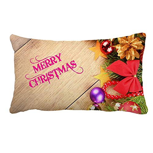 Christmas Wishes Pattern Pillow Cover Case for Couch Sofa Home Decoration 20...