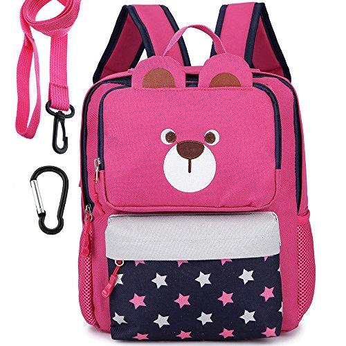 Imagen de  infantil camping guarderia escuela viaje saco perro oso animales mascotas viaje rosa niña