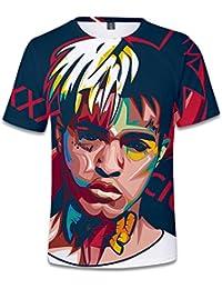 AILIENT Hombres Xxxtentacion Rock Camisetas de Manga Corta T-Shirt Estampar  3D Cuello Redondo Casual Camisetas Clasicos Hip Hop… 8cdb6077909