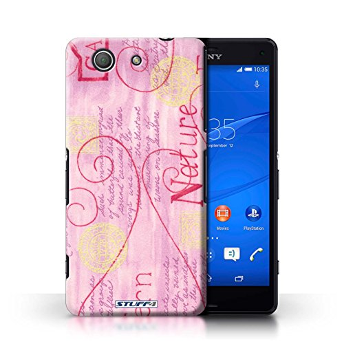 Kobalt® Imprimé Etui / Coque pour Sony Xperia Z3 Compact / Rose / Jaune conception / Série Motif Nature Rose / Jaune