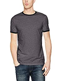 New Look Basic Ringer Tee, Camiseta para Hombre, Grey (Grey Pattern), Large