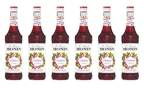 Monin Sirup Cranberry, 0,7L 6er Pack