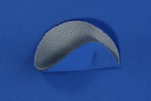 Original Automobilstoff, Autopolsterstoff in Blau mit 3 mm Schaum und Netz -