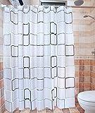 GZD impermeabile muffa di plastica griglia Indossare calore Noble resistente alla corrosione Curtain PEVA doccia , 200*200