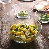 Bowl transparentes Geschirr Backen Eierschale Rührschüssel nach Hause große Obstsalat Schüssel Schüssel Glasschüssel