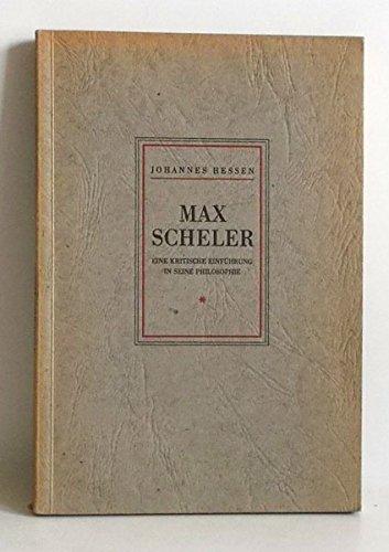 Max Scheler. Eine kritische Einführung in seine Philosophie aus Anlaß des 20. Jahrestages seines Todes