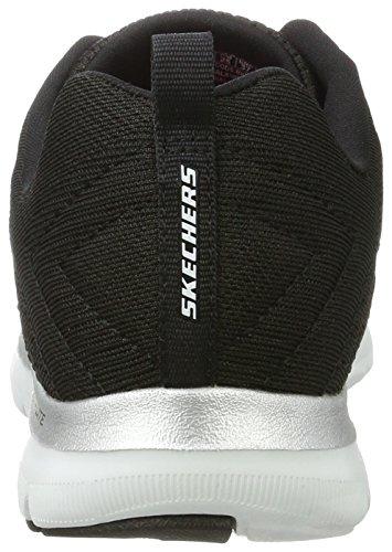 Skechers Flex Appeal 2.0 Break Free - Scarpa Tecnica da donna Nero(Bkw Noir/Blanc)