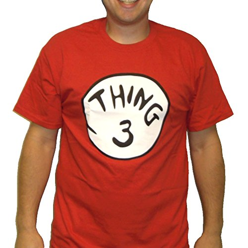 Kostüm Thing Dr 1 Seuss (Thing Herren T-Shirt 3 Kostüm Dr, Seuss Kinder-Illustration Katze mit in das Design der Minnesota Timberwolves, rot, 18-00-01-02Aad)