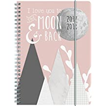 Brunnen 1072985098 Schülerkalender Moon (1 Woche in 2 Seiten, August 2017 bis Juli 2018)