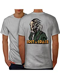 Wellcoda Lost in Space Men S-5XL T-Shirt Back