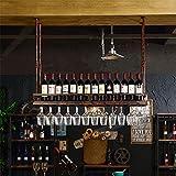 Yuqianqian Cave à vin modulable Étagère à Bouteille Gobelet Rack Porte-Bouteille De Vin Suspendus Coupe Européen Porte-Verre À Vin Porte-Upside Titulaire Creative Porte-Vins Décoration Maison