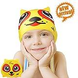 Kinder Badekappe, ZIONOR Manatee C1 Mini Premium Silikon Badekappen für langes Haar für Junior Kinder Mädchen Jungen Schwimmen Hut